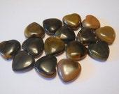 Tiger Eye Heart Beads