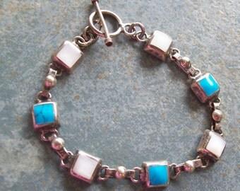 Vintage Bracelet Sterling Mexico 7 Inch
