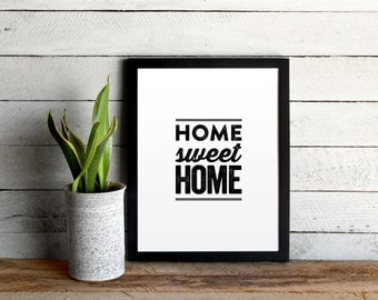 Home Sweet Home Poster • Modern Distressed Typographic Print • Vintage-Inspired Unique Home Decor • Home Sweet Home Quote Poster
