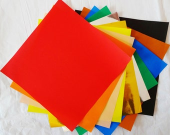 Origami Paper - 500 sheets of 15cm (6 inch) solid mixed origami paper