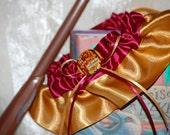 Custom Gryffindor House Harry Potter Themed Wedding Garter