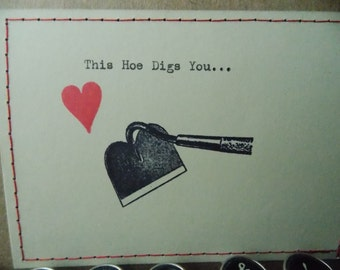 Funny Love Card -This hoe digs you