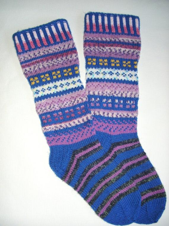 Knitting Pattern Women s Socks : Hand Knitted Pattern Socks-Womens Soks-Long by Billeshop ...