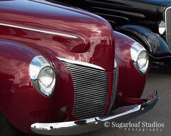 Red Vintage Car -- Fine Art  Photography Print -- Photo, Home Decor, Vintage Car, Automobile, Chevrolet, Art