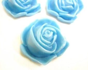 4pc 32mm Resin Flower Cabochon-4931