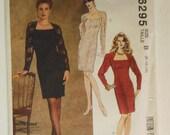 McCalls Pattern 6295 Size B (8, 10, 12) Misses Semi-Fitted Dress