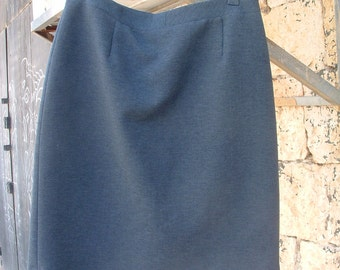 grey skirt size 44 dead stock made in Italy circa 1980's