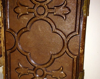 Reduced Sale Rare Civil War Era Antique Victorian Era Tooled Leather Photo Album 1863 Patd. Collectible by Altemus & Co Album Philadephia