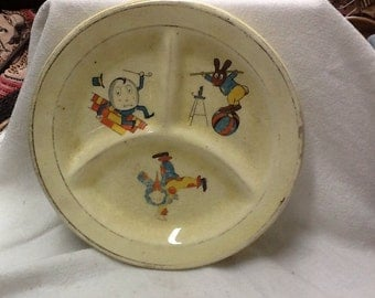 Vintage Divided Baby Dish