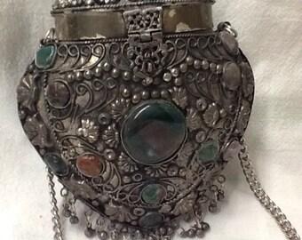 Saki Antique Silver Handbag