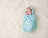 PDF Crochet pattern Brooklynn Bonnet and Swaddle Sack Newborn Photo Prop Infant
