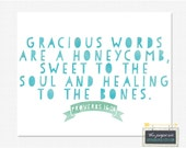 Gracious Words 5x7 Printable Print - Instant Download