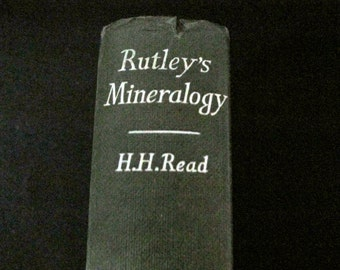 Antique Textbook - Rutley's Mineralogy - 24th edition - 1960 - H.H. Read - Geology - Minerals - NearEarthExploration