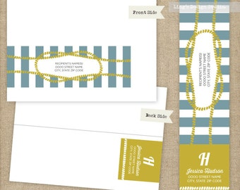 Nautical Wrap Around Address Labels | Printable or Printed Labels