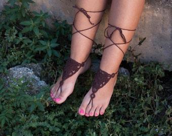 Barefoot Sandals,Hippie Foot Thongs, Bridal, Bridesmaids, Summer, Beach, Sandals, Festival,Yoga, Bellydancing,Bohemian