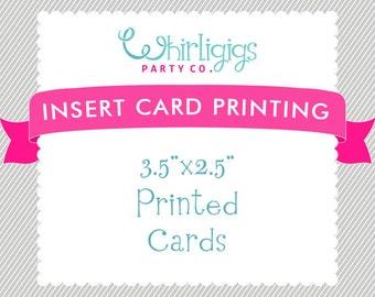 INSERT CARD PRINTING