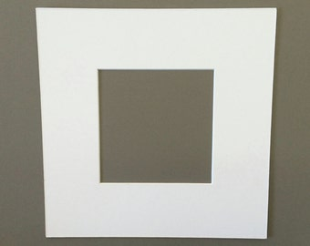 Package of 1 10x10  White Mats with White Core Bevel Cut for 6x6  Pictures