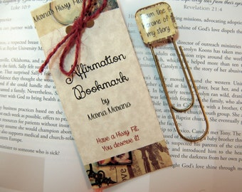 Affirmation Bookmark Positive Saying Paper Clip Bookmark I am the heroine of my story gift for teens moms friends