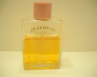 Vintage 1947 Jealousy Cologne by Blanchard. 1/2 fl. oz. Bottle---2/3 Full (4)