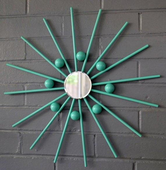 "Mirrored Star Wall Decor: Items Similar To 17"" Modern Steel Metal Wall Art Mirror"