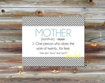 Mother (Definition)- Digital Print