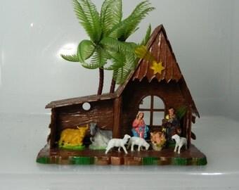 Vintage Christmas Manger Scene Christmas Decoration