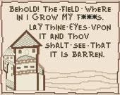 Barren Field of F**ks - Cross-Stitch Pattern - MATURE - Memes - INSTANT DOWNLOAD