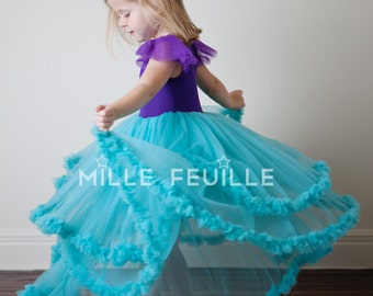 Ariel dress pettiskirt dress couture The Little Mermaid inspired princess dress costume