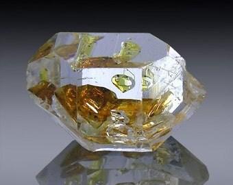 6.46ct Herkimer Diamond Quartz Healing crystal Body mind balance Gem Ennydro Gift idea Jewelry St. Patricks Day 14mm x 9mm SKU: 954A099