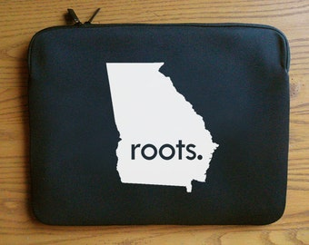 Georgia GA Roots or Made Neoprene Laptop Sleeve 13 or 15 inches