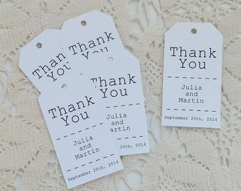 Thank You Tags - Just My Type - Wedding Favor Thank You Tags - Personalized - Bridal Shower - Baby Shower - Custom Quantities - WT-009
