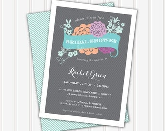 The Rachel • Bridal Shower Invitation | 5x7 | Double Sided