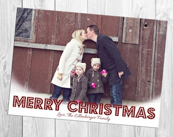 One Photo Christmas Card