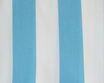 Light Blue & White Stripe Table Runner