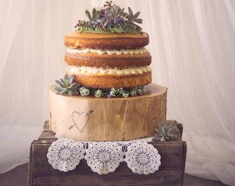 OUT OF STOCK Rustic woodlands Wedding Cake Tree Stump
