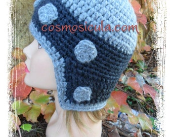 Crochet wool medieval helmet. Available to order in all colors and all sizes.