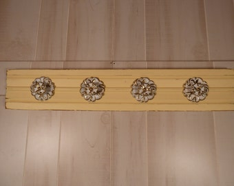 Wood Architectural Salvage Coat Rack Jewelry Organizer