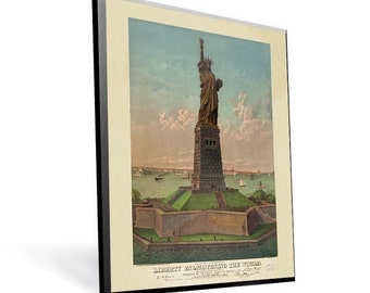 Statue of Liberty Enlightening the World Vintage Poster c.1884 on PopMount 8.5x12 Ready to Hang FREE SHIPPING