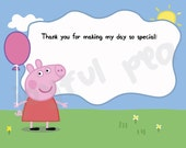 Peppa Pig Thank You Card