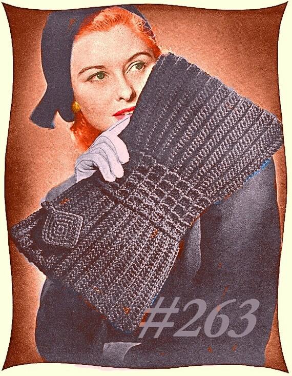 A BEST Vintage 1943 Elegant Bow Envelope Purse 263 PDF Digital Crochet Pattern