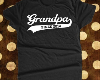 Grandpa Since Custom T Shirt