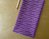 FQ ORGANIC Seaweed Purple Plum - Micro Mod Cloud 9 - Fat Quarter - Modern Quilting Sewing Cotton Fabric