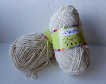 Yarn Sale  - Cream Chenille yarn by Herrschners