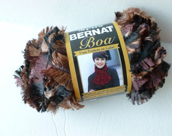 Yarn Sale  -  Dark Mink  Boa by Bernat