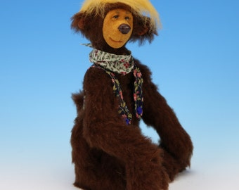 "OOAK Whimsical Artist Bear - 5.5""  - DUKE - By Tanya Abaimova - Sunnyfaces.net"