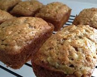 Banana Nut, Blueberry Zucchini, Apple, & Peach Bread, 4 Loaves Mix and Match Homemade, Moist, Delicious 4 Loaves your choice FREE SHIPPING