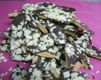 Toffee. 1lb Homemade English Toffee. FREE SHIPPING. Handcrafted Toffee Chocolate covered w/almonds or pecans.