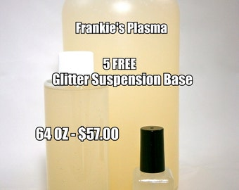 5 FREE Suspension Base Nail Polish - Frankie's Plasma Glitter Suspension Base - 64 OUNCE