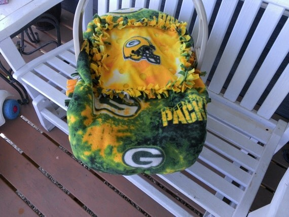 items similar to nfl green bay packers baby carrier car seat cover football girls boys fleece. Black Bedroom Furniture Sets. Home Design Ideas