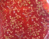 Red Silk Printed Fabric